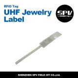 Extranjero H3 ISO18000-6c de la frecuencia ultraelevada del papel revestido de la escritura de la etiqueta de la biblioteca de RFID