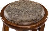 Taburete redondo de madera sólido (M-X2109)