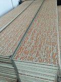 浮彫りになる金属の装飾によって絶縁される壁パネル