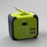 Convertitore Us/Au/UK/EU degli zoccoli delle spine elettriche con il USB doppio Chargeing
