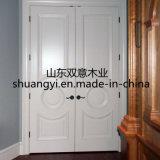 Portas de madeira interiores revestidas de pintura do folheado do PVC
