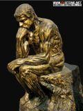 Het klassieke Standbeeld van de Tuin van het Beeldhouwwerk van het Brons van het Cijfer Roman