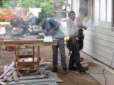 Painel de tapume de madeira da textura da placa do cimento da fibra