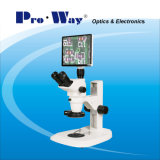 Microscópio estereofónico do zoom video profissional da tela de Digitas LCD (ZTX-PW6745LCD)