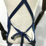 男女兼用の青いデニムのBaristaのエプロン十字の背部