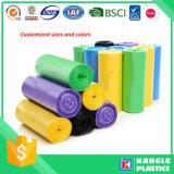 La basura de plástico descartables bolsas de basura con papel de etiqueta