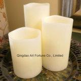 Flammenlose Pfosten-Kerze mit wellenartig bewogen Oberseite-Stellte von 3 ein