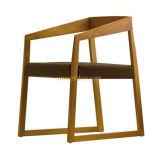 (SD-1005) Стул нордического трактира типа деревянный обедая с местом ткани