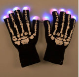 O esqueleto do diodo emissor de luz entrega luvas claras