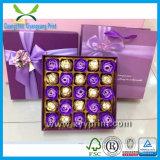 Rectángulo de papel de encargo del chocolate del diseño del OEM de la alta calidad con la impresión