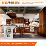 Armadio da cucina di legno solido della mobilia della cucina del Brown
