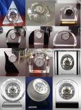 Don réglé de souvenir de Tableau de l'horloge en cristal M-5135 d'horloge de cadeau squelettique de luxe de nécessaire