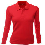 Women를 위한 Long Sleeve Polo Shirt 숙녀의
