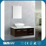 Nuova mobilia classica moderna di lusso della stanza da bagno con il dispersore