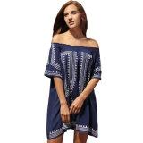Богемская печать Vibe геометрическая с платья пляжа плеча