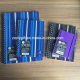 PP 나선 노트 개인적인 A4/A5 두 배 나선형 많은 덮개 인쇄 노트북 줄무늬로 한다