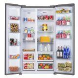 нержавеющая сталь 482lit смотря сторону двери - мимо - бортовой холодильник, основная модель