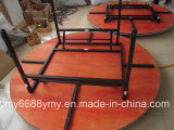 Vector de banquete plegable superior de madera de las piernas del metal