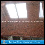 Tegels van de Vloer van het Graniet van de Steen van India van de korting de Binnenlandse Veelkleurige Rode