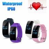 De slimme Manchet Bluetooth 4.0 IP68 de Waterdichte Drijver Smartband van de Armband van de Sport van de Monitor van het Tarief van het Hart voor Androïde Ios