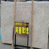 오만 중국 Polished 베이지색 로즈 대리석 석판