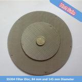 270의 메시, 철사 0.04 mm, Ss304, 304L, 316 의 316L 필터 디스크 스크린, 압출기 스크린, 필터 팩