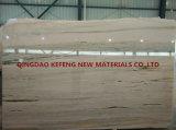 Königliche Jade-weißer gelber Marmormarmorierungbodenbelag