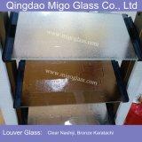 Borrar las láminas modeladas bronce coloreadas teñidas del vidrio de ventana de la lumbrera