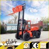 Vorkheftruck van het Terrein van de Dieselmotor van Welift de Ruwe 3.5 Ton Al Vorkheftruck van het Terrein 4X4