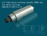 Asse di rotazione caldo di raffreddamento ad acqua di vendita 5.5kw per la macchina del router di CNC (GDK125-9-18Z/5.5-11)