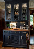 De aangepaste Klassieke Elegante Romantische Keukenkast van de Stijl