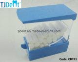 Contenitore dentale di tampone con l'erogatore del rullo di cotone del tasto del cassetto (CB741)