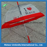 PVC Transparent Apollo Bubble Umbrella di 23inches Straight Auto Open
