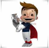 A mascote super do vencedor da melhor venda para a euro- mascote 2016 dos desenhos animados do copo