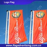 Fábrica de bandeira de suspensão ao ar livre do poliéster, bandeira de voo, anunciando a bandeira