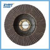 Rueda fundida Brown 100-180m m de la solapa del disco de la solapa del alúmina T27 y T29