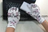 Gant de travail tricoté par polyester avec le plongement de nitriles (N1561-2)