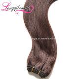 Cheveux humains brésiliens brun clair de Vierge humaine de la pente 7A