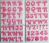 Grosse Alphabet-Schaumgummi-Mehrfarbenaufkleber für Scrapbooking und Cardmaking