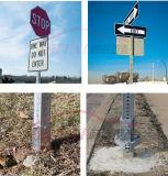 교통 안전을%s 완전히 구멍을 뚫은 Telespar 정연한 표시 포스트