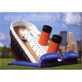 膨脹可能な警備員のスライド: 乾燥したBouncy SlideおよびWet Water Slide