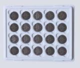 batteria del tasto del litio di 3V Cr1220 per la parte superiore della barretta