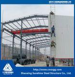 Helle Stahlwerkstatt mit Walzen-Tür