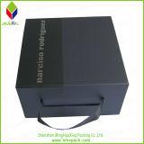 Schwarzes Folding Paper Gift Box mit Ribbon