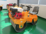 振動ローラーのコンパクターの二重ドラム乗車