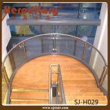 Balusters нержавеющей стали в стеклянном Railing для напольного балкона (SJ-S081)