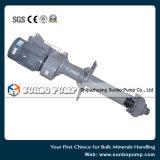 Pompe centrifuge verticale de vente chaude avec le moteur pour l'industrie minière