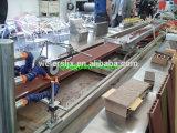 Linha de produção plástica de madeira do perfil de PVC/PP/PE