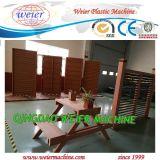 Decking esterno del PE di WPC, linea di produzione di lavorazione del pannello di parete