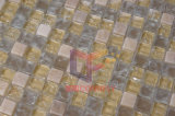 Marbre et Cracked Glass Mixed Mosaic Tile (CS102)